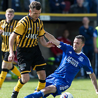 Picture by Christian Cooksey/CookseyPix.com.<br /> All rights reserved. For full terms and conditions see www.cookseypix.com<br /> <br /> Juniors - Auchinleck Talbot v Glenafton Athletic. Auchinleck's Keir Milliken skips past Glenafton's Jamie McGeoghegan