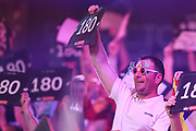 Dart fan in the crowd during the BetVictor World Matchplay Darts 2018 final at Winter Gardens, Blackpool, United Kingdom on 29 July 2018. Picture by Shane Healey.