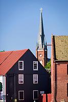 View of St. Mary's Catholic Church, historic Annapolis, Maryland, USA.