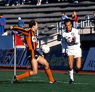 24.05.1987.Jari Rinne (FC Kuusysi) v Harri Munukka (Reipas).©JUHA TAMMINEN