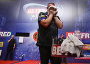 Glen Durrant during the World Matchplay Darts 2019 at Winter Gardens, Blackpool, United Kingdom on 23 July 2019.