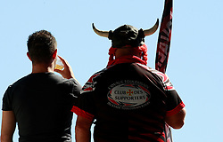 A stade Toulouse Viking watches the match.  Stade Toulousain v ASM Clermont Auvergne, Stade Ernest Wallon, Samedia 13 September 2014. Top 14 5eme Journee.