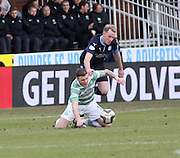 Dundee's Gary Irvine and Celtic&rsquo;s Anthony Stokes tussle for the ball  - Dundee v Celtic, William Hill Scottish Cup fifth round at Dens Park <br /> <br /> <br />  - &copy; David Young - www.davidyoungphoto.co.uk - email: davidyoungphoto@gmail.com