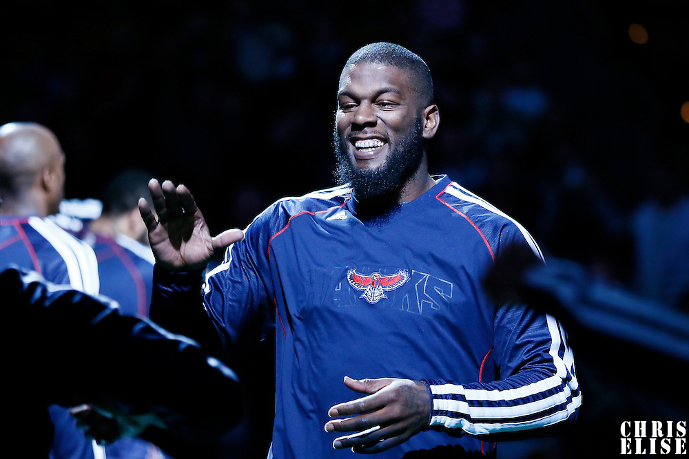 29 March 2013: Atlanta Hawks small forward DeShawn Stevenson (92) is seen during the players introduction prior to the Boston Celtics 118-107 victory over the Atlanta Hawks at the TD Garden, Boston, Massachusetts, USA.