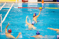 Emmanouil Mylonakis of Olympiacos during water polo match between Primorje Erste Bank (CRO) and Olympiacos Piraeus (GRE) in 8th Round of Champions League 2016, on April 16, 2016 in Kantrida pool, Rijeka, Croatia. Photo by Vid Ponikvar / Sportida