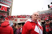 Former coach Tom Osborne before the Nebraska Huskers Spring Game on April 21, 2018. Photo by Ryan Loco.