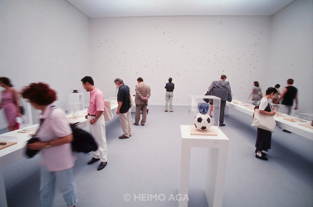 VENICE, ITALY..June 1997..47th Biennale of Venice.Spanish Pavillion..Objects by Joan Brossa..(Photo by Heimo Aga)