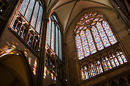 Europa, Deutschland, Koeln, der Dom, das Fenster von Gerhard Richter im suedlichen Querhaus. - <br /> <br /> Europe, Germany, Cologne, inside the cathedral, the window by the artist Gerhard Richter.