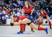 ROTTERDAM  - NK Zaalhockey . finale dames hoofdklasse: hdm-Laren 2-1. hdm landskampioen. Lieke van Wijk (Lar).    COPYRIGHT KOEN SUYK