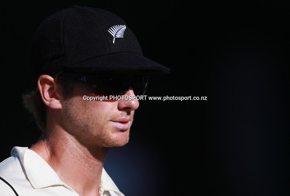 New Zealand Cricketer Kane Williamson on Day 2 of the 2nd test match.  New Zealand Black Caps v Pakistan, Test Match Cricket. Basin Reserve, Wellington, New Zealand. Sunday 16 January 2011. Photo: Andrew Cornaga/photosport.co.nz