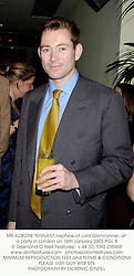 MR AUBONE TENNANT nephew of Lord Glenconner, at a party in London on 16th January 2003.PGL 8