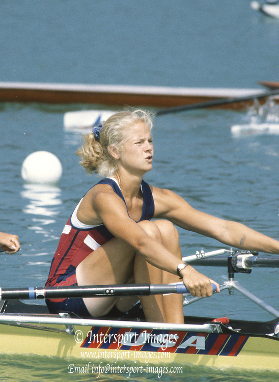 Milan ITALY,  General View of the BLW2X. Dana REMUS, competing in the 1997 Nations Cup U23  World Rowing Championships. Course, Idra Scala. Province of Milan.<br /> <br /> [Mandatory Credit; Peter Spurrier/Intersport-images] 1997 U23 Nations Cup U23 Championships. Milan Italy