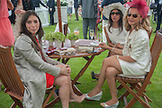YASEMIN KARAVI; ESRA GOYMEN; DILEK AR, Cartier Queen's Cup. Guards Polo Club, Windsor Great Park. 17 June 2012