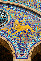Iran, Teheran, Palais du Golestan, Patrimoine mondial de l'UNESCO,  // Iran, Tehran, Golestan Palace, World Heritage of the UNESCO, tiled decorations