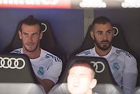 Real Madrid's Gareth Bale and Karim Benzema during XXXVIII Santiago Bernabeu Trophy at Santiago Bernabeu Stadium in Madrid, Spain August 23, 2017. (ALTERPHOTOS/Borja B.Hojas)
