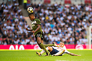 Juventus (12) Alex Sandro, Tottenham Hotspur (16)	Kieran Trippier during the Pre-Season Friendly match between Tottenham Hotspur and Juventus FC at Wembley Stadium, London, England on 5 August 2017. Photo by Sebastian Frej.