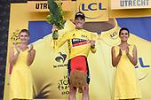 Uitreiking Gele trui na eerste etappe in Utrecht