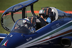 06.09.2015, Airbase, Rivolto, ITA, Payerne, Flugshow anlässlich des 55. Geburtstag der Frecce Tricolori, im Bild Frecce Tricolori // during the Airshow on the occasion of the 55th anniversary of the Frecce Tricolori at the Airbase in Rivolto, Italy on 2015/09/06. EXPA Pictures © 2015, PhotoCredit: EXPA/ Eibner-Pressefoto/ Neurohr<br /> <br /> *****ATTENTION - OUT of GER*****