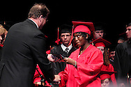 Davida Danielle Stanley receives her diploma during the 102nd commencement of West Carrollton High School at the Schuster Center in downtown Dayton, Thursday, May 24, 2012.
