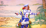 Dick Whittington <br /> by Eric Potts <br /> directed by Ian Talbot<br /> at New Wimbledon Theatre, Wimbledon, London, Great Britain <br /> rehearsal <br /> 8th December 2016 <br /> <br /> <br /> Matthew Kelly as Sarah the Cook <br /> <br /> <br /> Photograph by Elliott Franks <br /> Image licensed to Elliott Franks Photography Services