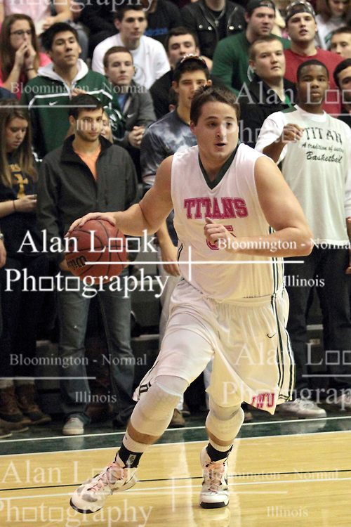 08 February 2014:  Andrew Ziemnik during an NCAA mens division 3 CCIW basketball game between the Elmhurst Bluejays and the Illinois Wesleyan Titans in Shirk Center, Bloomington IL