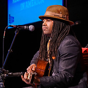 """Citizen University National Conference 2017 """"Reckoning and Repair in America"""". Musician and Socialpreneur Benjamin Hunter. Photo by Alabastro Photography."""