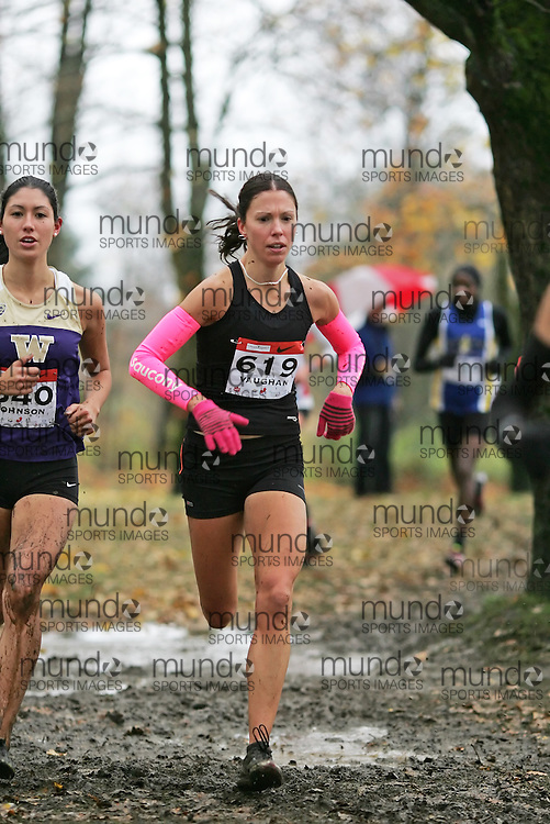 (Vancouver, Canada---26 November 2011)  Kate Vaughan running in the senior womens race at the 2011 Athletics Canada National Cross Country Championships held at Jericho Beach Park. Photograph 2011 Copyright Sean Burges / Mundo Sport Images. For usage terms contact info@mundosportimages.com or seanburges@yahoo.com.