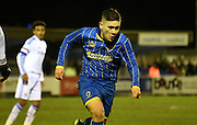Reece Williams-Bowers chasing down the ball during the FA Youth Cup match between U18 AFC Wimbledon and U18 Chelsea at the Cherry Red Records Stadium, Kingston, England on 9 February 2016. Photo by Michael Hulf.