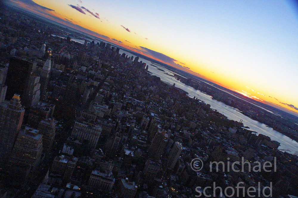 The city of New York from the top top The Empire State Building..Images of the city of New York, United States of America, taken between 20th-22nd November, 2001..©Michael Schofield.