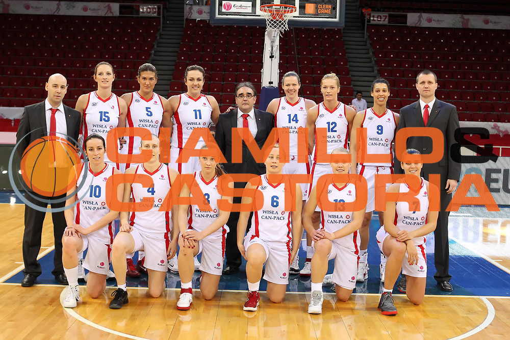 DESCRIZIONE : Istanbul Fiba Europe Euroleague Women 2011-2012 Final Eight Wisla Can-Pack Spartak M.R. VIdnoje<br /> GIOCATORE : Team Photo Foto di Squadra<br /> SQUADRA : Wisla Can-Pack <br /> EVENTO : Euroleague Women<br /> 2011-2012<br /> GARA : Wisla Can-Pack Spartak M.R. VIdnoje<br /> DATA : 28/03/2012<br /> CATEGORIA : <br /> SPORT : Pallacanestro <br /> AUTORE : Agenzia Ciamillo-Castoria/ElioCastoria<br /> Galleria : Fiba Europe Euroleague Women 2011-2012 Final Eight<br /> Fotonotizia : Istanbul Fiba Europe Euroleague Women 2011-2012 Final Eight Wisla Can-Pack Spartak M.R. VIdnoje<br /> Predefinita :