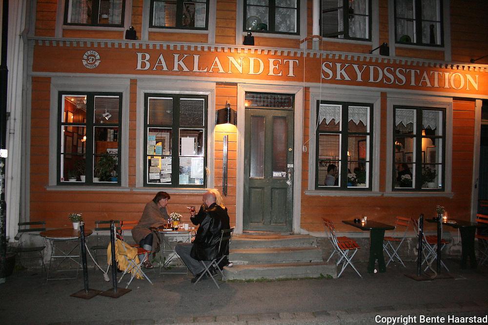 Baklandet Skydsstasjon, restaurert bygård på Bakklandet i Trondheim. Foto: Bente Haarstad
