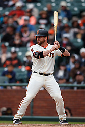 SAN FRANCISCO, CA - MAY 26: Stephen Vogt #21 of the San Francisco Giants at bat against the Arizona Diamondbacks during the ninth inning at Oracle Park on May 26, 2019 in San Francisco, California. The Arizona Diamondbacks defeated the San Francisco Giants 6-2. (Photo by Jason O. Watson/Getty Images) *** Local Caption *** Stephen Vogt