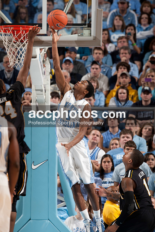 CHAPEL HILL, NC - DECEMBER 17: Dexter Strickland #1 of the North Carolina Tar Heels shoots against the Appalachian State Mountaineers on December 17, 2011 at the Dean E. Smith Center in Chapel Hill, North Carolina. North Carolina won 82-97. (Photo by Peyton Williams/UNC/Getty Images) *** Local Caption *** Dexter Strickland