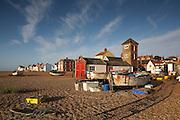 Great Britain England Suffolk Heritage Coastline Aldeburgh Beach Scene