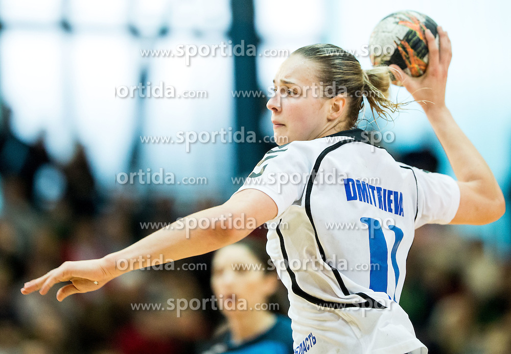 Daria Dmitrieva of Lada during 2nd Leg handball match between RK Krim Mercator and HC Lada Togliatti (RUS) in Semifinal of Women Cup Winners' Cup 2015/16, on April 9, 2016 in Arena Kodeljevo, Ljubljana, Slovenia. Photo by Vid Ponikvar / Sportida
