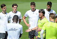 Joachim Low, head coach of Germany, addresses his players during training at Stadio Communale, Ascona<br /> Picture by EXPA Pictures/Focus Images Ltd 07814482222<br /> 26/05/2016<br /> ***UK &amp; IRELAND ONLY***<br /> EXPA-EIB-160526-0074.jpg
