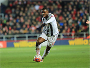 Victor Anichebe during the The FA Cup Third Round Replay match between Bristol City and West Bromwich Albion at Ashton Gate, Bristol, England on 19 January 2016. Photo by Daniel Youngs.