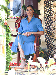 Meghan Duchess of Sussex visits Toloa Forest Reserve for The Queen's Commonwealth Canopy during their tour of the Kingdom of Tonga. Photo credit should read: Doug Peters/EMPICS