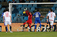 19.01.2013 SPAIN -  La Liga 12/13 Matchday 20th  match played between Getafe C.F. vs Sevilla Futbol Club (1-1) at Alfonso Perez stadium. The picture show Oscar Alfredo Ustari (Brazilian goalkeeper of Getafe)