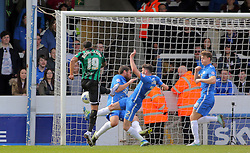 Nathaniel Mendez-Laing of Rochdale scores his sides second goal of the game - Mandatory by-line: Joe Dent/JMP - 09/04/2016 - FOOTBALL - ABAX Stadium - Peterborough, England - Peterborough United v Rochdale - Sky Bet League One