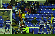 20/12/2003 - Photo  Peter Spurrier.2003_04_Nationwide_Div_1.Reading_FC_vs_Crystal_Palace_FC.Reading keeper Marcus Hahnemann punch's clear.