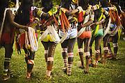 Kayapó women dancing during the Indigenous Festival.