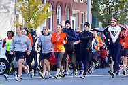 Goshen, New York - Runners take off at the start of the Hambletonian Marathon fun run on Nov. 4, 2012. The run was put together for runners who had trained for the New York City Marathon, which was cancelled because of Hurricane Sandy.