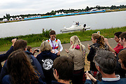 UK, August 1 2012: Women's Quadruple Sculls rower, Carina Baer,  shows off her Women's Quadruple Sculls Olympic silver medal at Eton Dorney.  Copyright 2012 Peter Horrell.