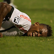 Botafogo striker Maicosuel injures himself while shooting during the Botafogo V Vasco, Futebol Brasileirao  League match at Estadio Olímpico Joao Havelange, Rio de Janeiro, The classic Rio derby match ended in a 2-2 draw. Rio de Janeiro,  Brazil. 22nd September 2010. Photo Tim Clayton.