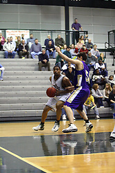 30 December 2006: Darius Gant tries to make the corner past Evan Way. The Titans outscored the Britons by a score of 94-80. The Britons of Albion College visited the Illinois Wesleyan Titans at the Shirk Center in Bloomington Illinois.<br />