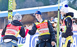 06.02.2011, Heini Klopfer Skiflugschanze, Oberstdorf, GER, FIS World Cup, Ski Jumping, Teamwettbewerb, Finale, im Bild Thomas Morgenstern (AUT) Gregor Schlierenzauer (AUT) und Andreas Kofler (AUT) , during ski jump at the ski jumping world cup Trail round in Oberstdorf, Germany on 06/02/2011, EXPA Pictures © 2011, PhotoCredit: EXPA/ P. Rinderer