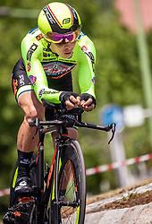 06.07.2019, Wels, AUT, Ö-Tour, Österreich Radrundfahrt, Prolog, Einzelzeitfahren (2,5 km), im Bild Dayer Quintana (Neri Selle Italia KTM, COL) // Dayer Quintana (Neri Selle Italia KTM, COL) during the prolog, Individual time trial (2,5 Km) of the 2019 Tour of Austria. Wels, Austria on 2019/07/06. EXPA Pictures © 2019, PhotoCredit: EXPA/ JFK