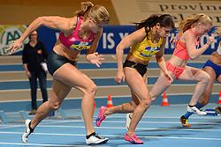 27-02-2016 NED: NK Atletiek Indoor, Apeldoorn<br /> Dafne Schippers in actie in de halve finale 60m waar ze later de titel pakte.