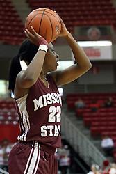 03 March 2013:  Tyonna Snow during an NCAA Missouri Valley Conference (MVC) women's basketball game between the Missouri State Bears and the Illinois Sate Redbirds at Redbird Arena in Normal IL